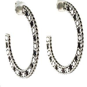John Hardy Nuansa Chain Hoop Earrings